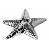 Ceramic Sea Star Candle Holder Polished Chrome Finish Silver
