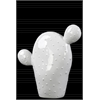 "Ceramic ""Prickly Pear"" Cactus Figurine Gloss Finish White"
