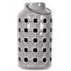 Ceramic Lantern with Metal Handle, and Cutout Porthole Design Gloss Finish Periwinkle