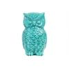 Ceramic Owl Figurine Gloss Finish Turquoise