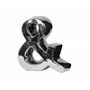 Ceramic Alphabet Sculpture ''&'' Sign Polished Chrome Finish Silver