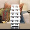 Ceramic Square Irregular Vase with Round Cutout and Layered Body Design LG Polished Chrome Finish White
