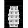 Ceramic Square Irregular Vase with Round Cutout and Layered Body Design SM Polished Chrome Finish White