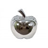 Ceramic Apple Figurine LG Polished Chrome Finish Silver
