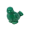 Ceramic Bird Looking Left Figurine Gloss Finish Turquoise