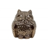 Ceramic Owl Figurine Polished Chrome Finish Gold