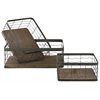 Metal Low Rectangular Wire Basket with Wavy Design Mesh Body Set of Three Coated Finish Dark Taupe