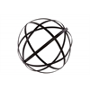 Metal Orb Dyson Sphere Design Decor (5 Circles) Coated Finish Black