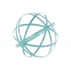 Metal Orb Dyson Sphere Design Decor (5 Circles) Coated Finish Cyan