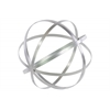 Metal Orb Dyson Sphere Design Decor (5 Circles) Coated Finish Silver