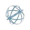 Metal Orb Dyson Sphere Design Decor (5 Circles) Coated Finish Blue