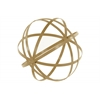 Metal Orb Dyson Sphere Design Decor (5 Circles) Coated Finish Gold