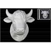 Ceramic Cow Head Wall Decor Matte Finish White
