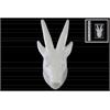 Ceramic Antelope Head Wall Decor Gloss Finish White