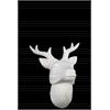 Porcelain Deer Head Wall Decor SM Matte Finish White