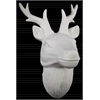 Porcelain Deer Head Wall Decor LG Matte Finish White