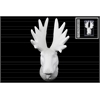 Porcelain Deer Head Wall Decor Matte Finish White