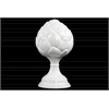 Ceramic Artichoke Figurine On Pedestal LG Gloss Finish White