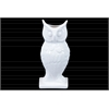 Ceramic Owl Vase on Base LG Gloss Finish White