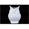 Ceramic Owl Figurine/Vase SM Gloss Finish White