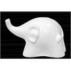 Ceramic Trumpeting Elephant Abstract Figurine LG Gloss Finish White