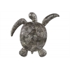 Polyresin Loggerhead Sea Turtle Figurine Matte Finish Silver