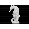 Ceramic Seahorse Figurine on Base Gloss Finish White