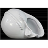 Ceramic Conch Seashell Figurine Gloss Finish White