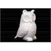 Ceramic Owl Figurine Gloss Finish White