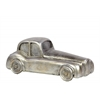 Resin Classic Hot Rod  Car Figurine Brushed Finish Silver
