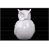 Ceramic Owl Figurine Gloss Finish White