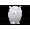 Ceramic Owl Figurine LG Gloss Finish White