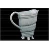 Ceramic Conch Seashell Pitcher Gloss Finish Light Cyan