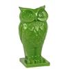 Ceramic Owl Figurine/Vase on Base Gloss Finish Lime Green