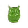 Ceramic Owl Figurine/Vase LG Gloss Finish Lime Green