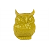 Ceramic Owl Figurine/Vase LG Gloss Finish Yellow