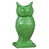 Ceramic Owl Figurine/Vase on Base Gloss Finish Pale Green