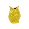Ceramic Owl Figurine/Vase SM Gloss Finish Amber