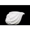 Ceramic Conch Seashell Figurine SM Gloss Finish White
