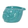 Ceramic Conch Seashell Figurine LG Gloss Finish Cyan