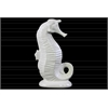 Ceramic Seahorse Figurine on Base LG Gloss Finish White