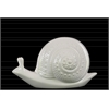 Ceramic Snail Figurine SM Gloss Finish White