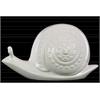Ceramic Snail Figurine LG Gloss Finish White