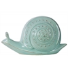 Ceramic Snail Figurine LG Gloss Finish Blue