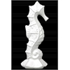 Ceramic Seahorse Figurine on Sea Star Base Gloss Finish White