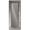 Metal Rectangular Wall Mirror with Pierced Metal Design Frame Metallic Finish Bronze