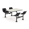 OFM Cluster Table with Laminate top - 24 x 48, Black Seats, Beige Nebula Top