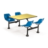 Cluster Table with Laminate top - 24 x 48, Blue Seats, Yellow Top