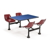 OFM Cluster Table with Laminate top - 24 x 48, Blue