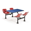 Cluster Table with Laminate top - 24 x 48, Blue